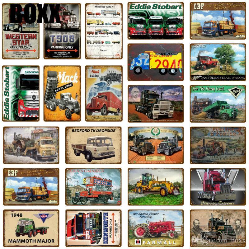 2020 Heavy Duty Camions De Voiture En Métal Signes Farmall ferme agricole Tracteurs affiche Vintage peinture murale plaque Pub Garage Club Décor chaude