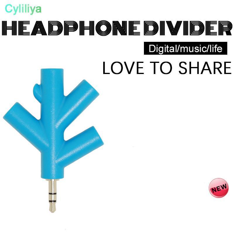 3,5 mm utile 4 Way Port Aux Audio Converter Spliter adaptateur multi écouteur 1 mâle à 2 3 4 Femme de couleur aléatoire