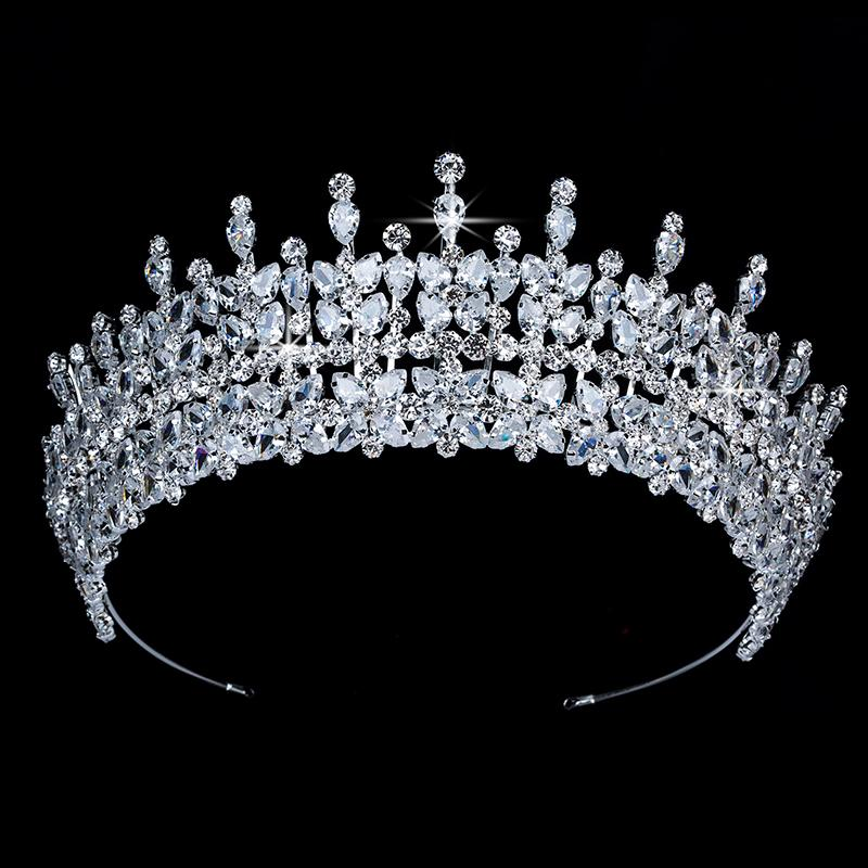 Accesorios para el cabello tiaras de la boda y corona HADIYANA Torgeous temperamento circón BC3949 Princesa Accesorios para el cabello
