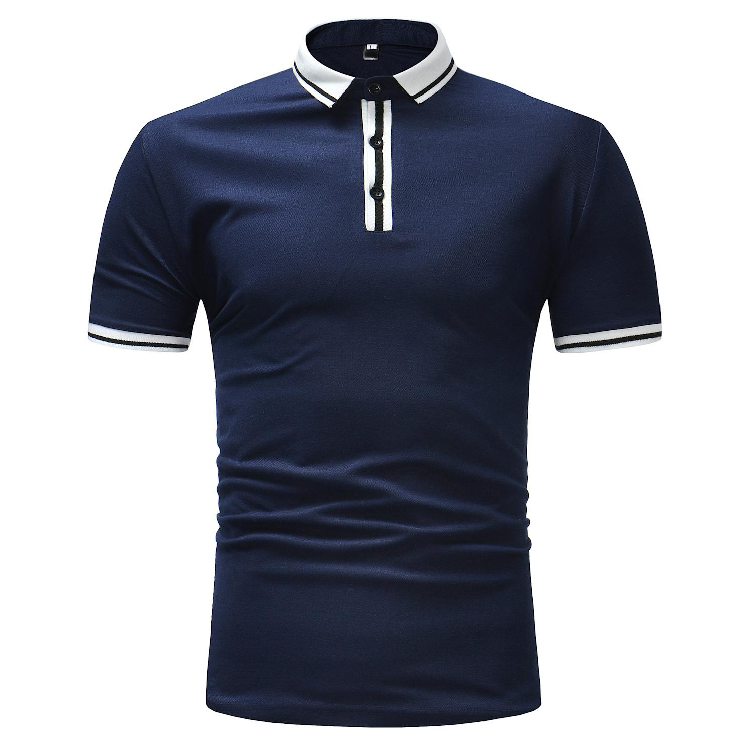 Short-sleeved T-shirts of men's wear explosive large-size plain-color leisure series