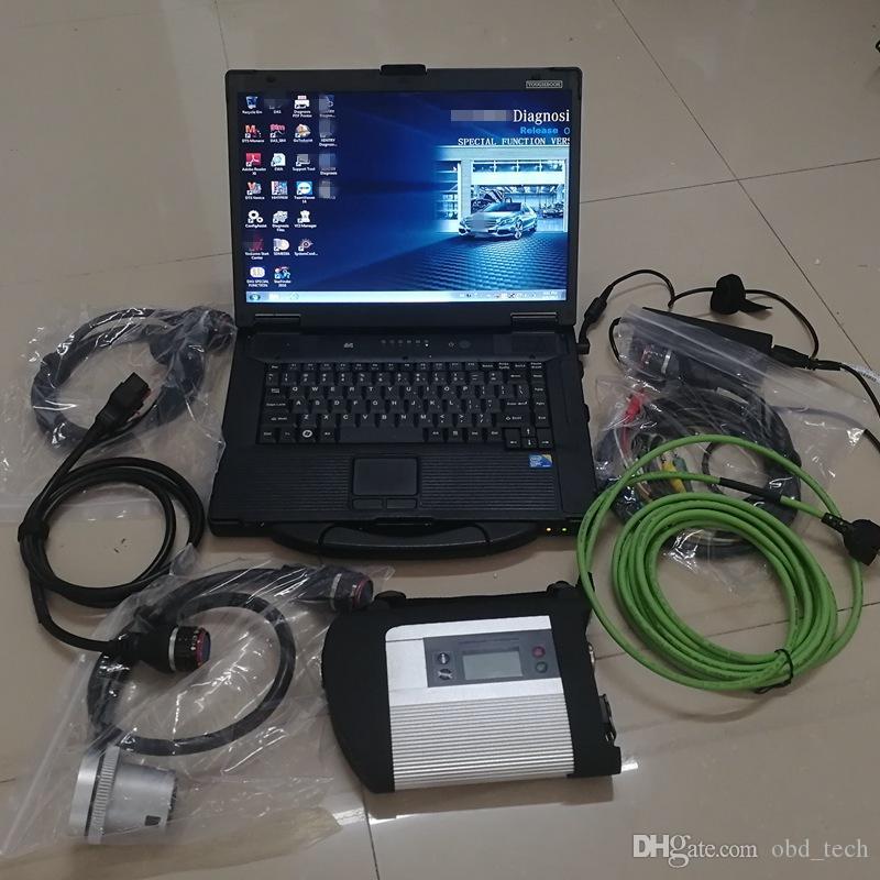 Super Diagnóstico Ferramenta MB Star C4 SD Connect 4 Cabos OBD 2 e Interface V03.2021 Soft-Ware no SSD Usado CF52 I5 4G