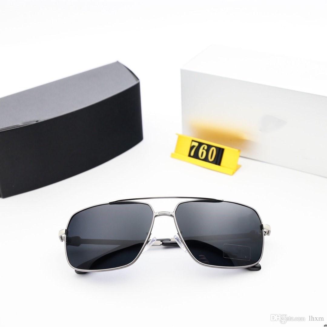 Новые мужские стиль металлические солнцезащитные очки с квадратными рамами и 760 кадров металла с высоким разрешением поляризованных линз