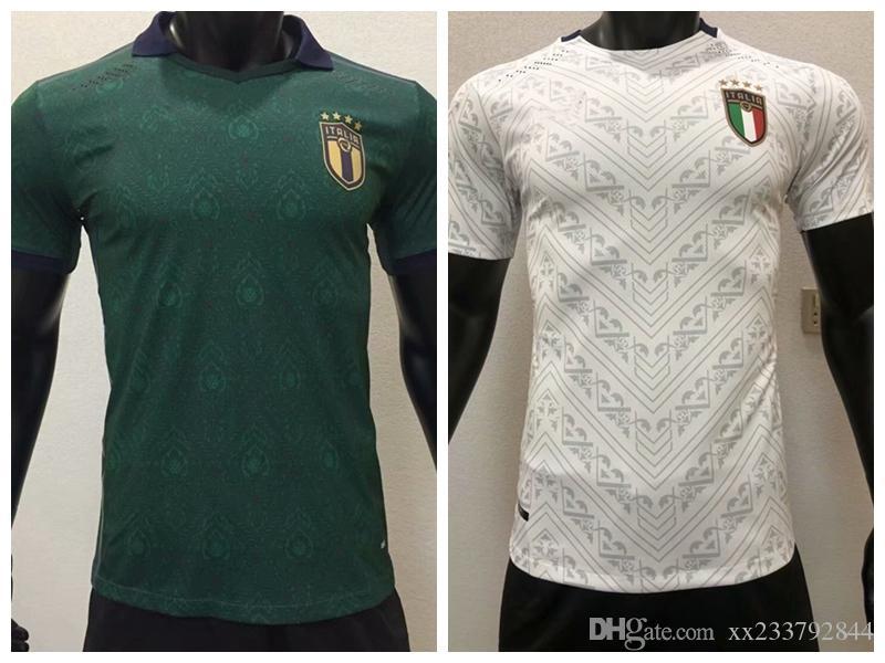 2020 2021 İtalya oyuncu versiyonu Futbol formaları INSİGNE BELOTTİ JORGİNHO Pellegrini verratti euro ev uzakta 3rd 20 21 futbol oyuncu gömlek