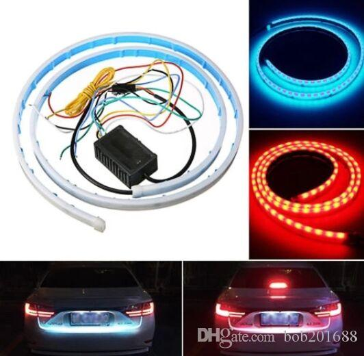 Flessibile LED Freno Segnale di direzione Reverse Warning Flash Lights Strip Flowing Rear Trunk Fanale posteriore Dynamic Streamer