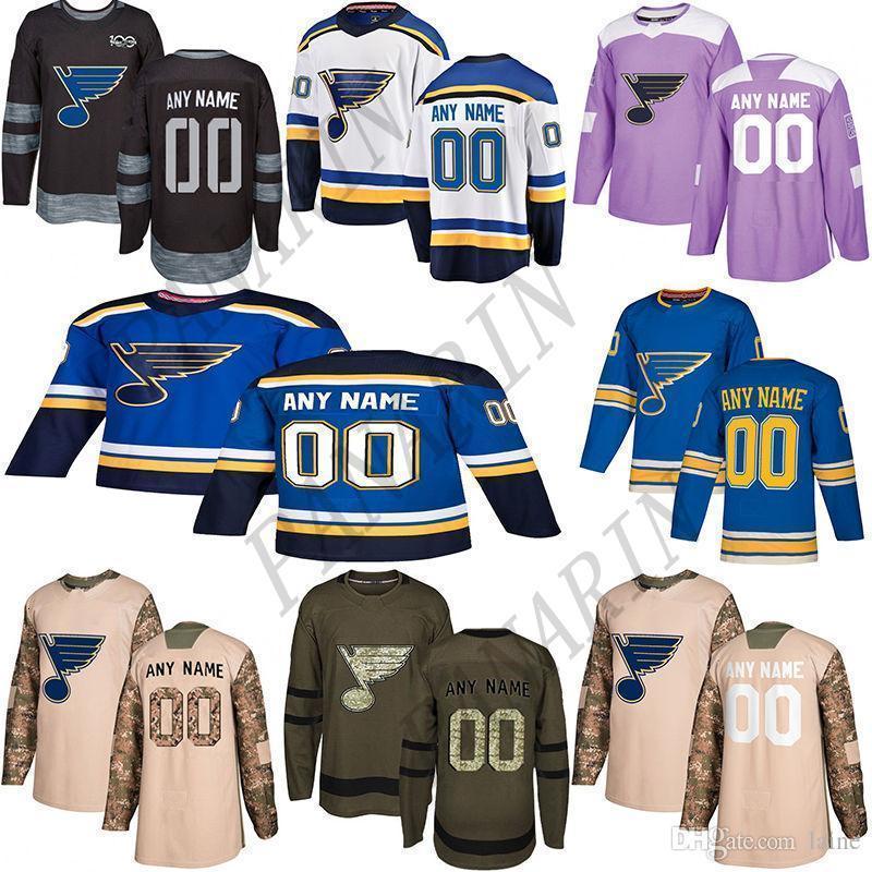 2020 Noticias St. Louis Blues HockeyJerseys múltiples estilos para hombre de encargo cualquier nombre cualquier número de los jerseys del hockey