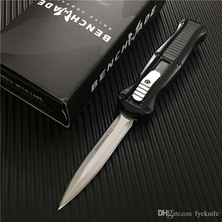 Новый Benchmade Mini 3300 боевые автоматические ножи двойного действия D2 Стальной наконечник копья EDC карманные ножи выживания открытый 3350 EDC инструмент