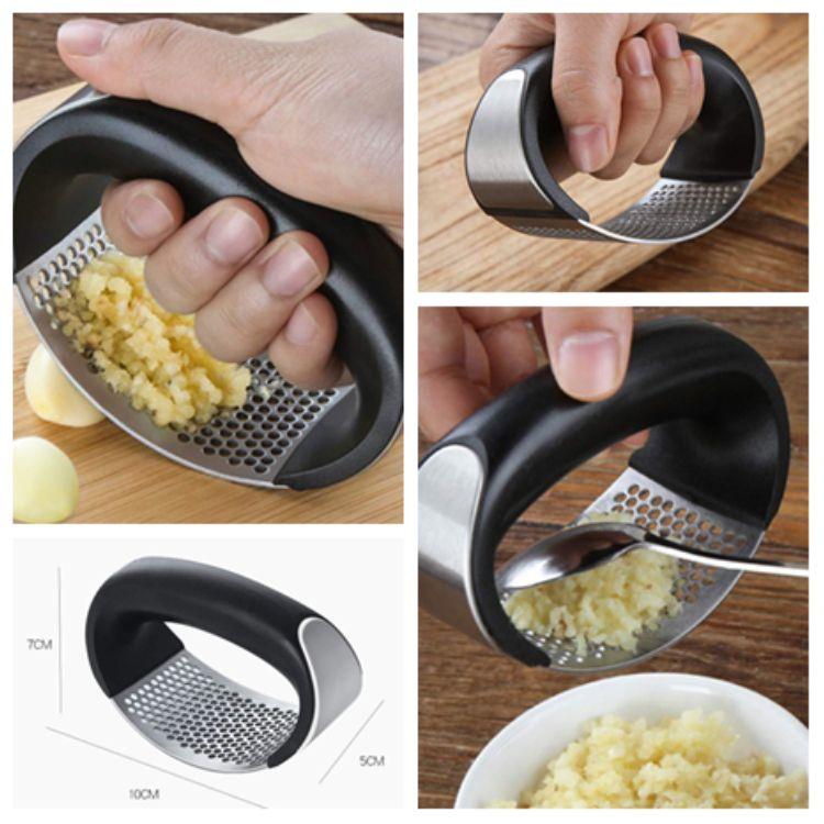 Stainless Steel Manual Garlic Press Crusher Squeezer Masher Kitchen-Tool 2020