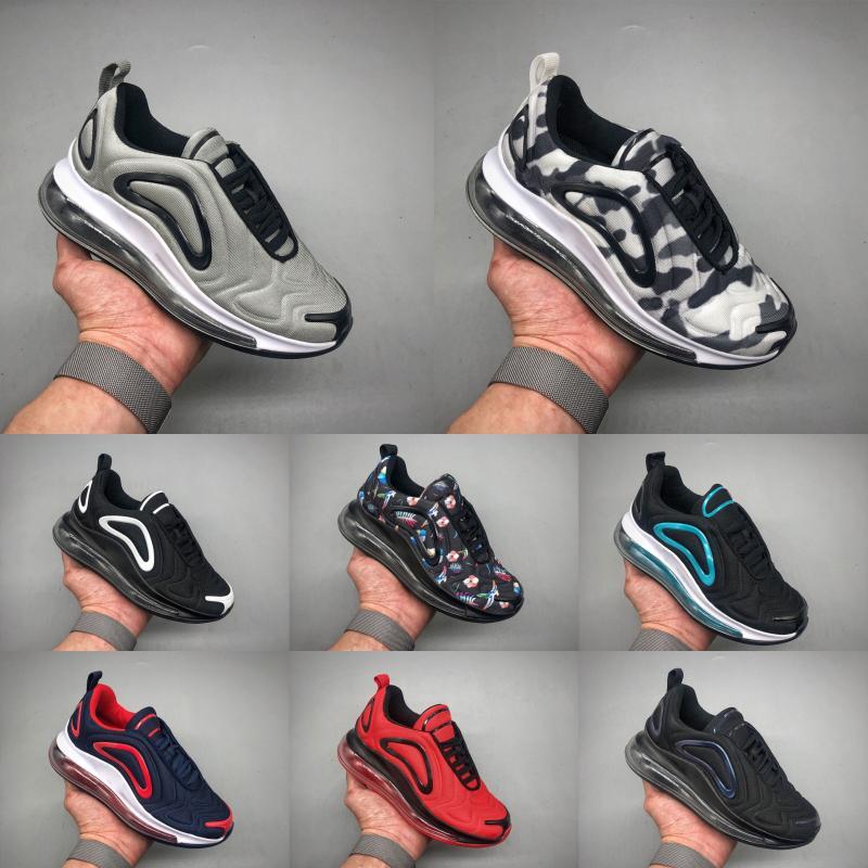 Nike Air Max 720 venta caliente Nuevos niños zapatos del azul de la muchacha negro rojo gris de los deportes de alta calidad de los niños del bebé de moda las zapatillas de deporte