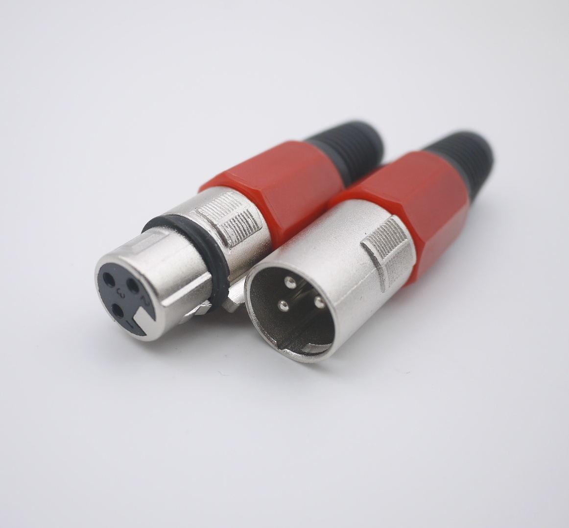 XLR 3 دبوس أنثى MIC جاك التوصيل الصوت ميكروفون الكابل الموصل (كل وتشمل الكثير نصف الذكور والنصف الآخر من الإناث)