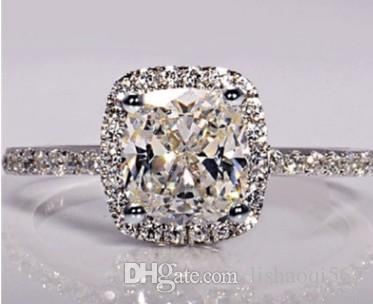 Großhandels10pcs / lots, die 925 silberne Einlegearbeit-Diamantschmucksachesteinfrauen mehr Größe 5.5uy chaming sind