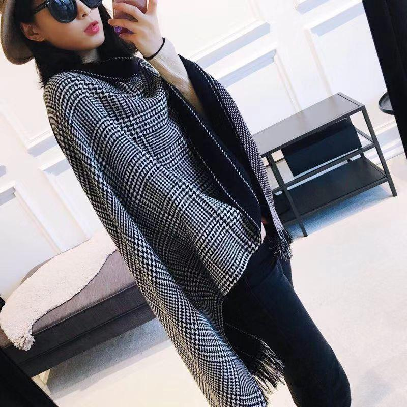 Fashion Women Designer Scarf Winter Cashmere Luxury Scarves For Women and Men 2019 Large Check Oversized Blanket Scarves letter Scarf
