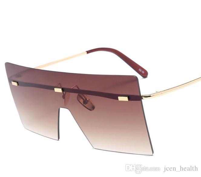 رجل امرأة الأزياء الحالي أبحث النظارات الشمسية الجيدة المستطيل مربع نظارات الشمس متعدد الألوان بدون شفة adumdant حملق متكاملة eyewea النظارات الشمسية