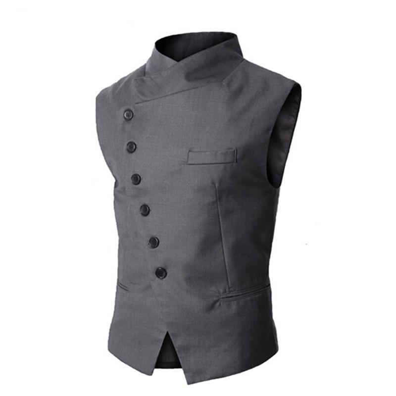 Neue Ankunftmens-Weste Art und Weise Marke Weste Männer Qualitäts-Schwarz-Grau Formal Business Men Fit Anzüge Blazer Für
