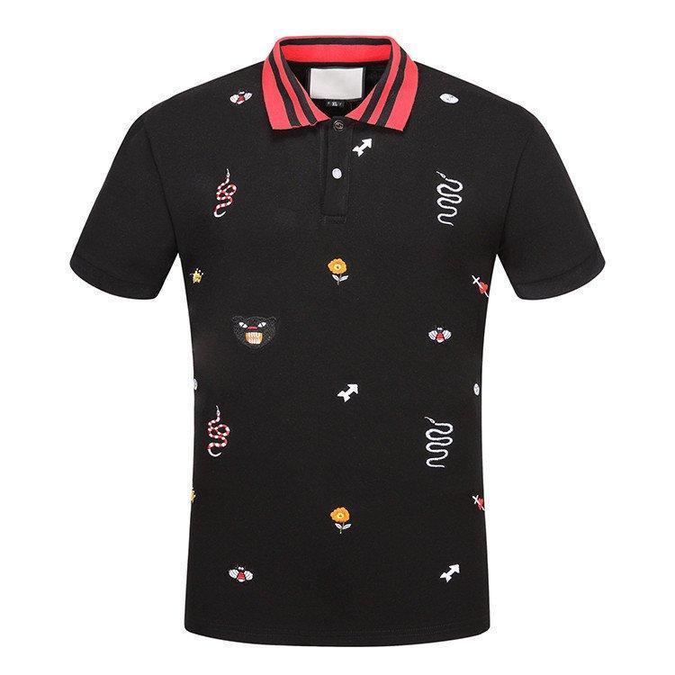 shirt n Solide Cotton Polo mit Stickereien Biene Lampropeltis UFO Männer Polohemdkragen Polo Menst xshfbcl Shorts Hemden Kleidung