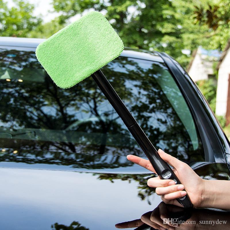 자동차 브러시 청소 마이크로 화이버 앞 유리 클리너 자동 차량 세척 수건 창 유리 와이퍼 먼지 제거 자동차 홈 망할 워시 브러쉬 도구