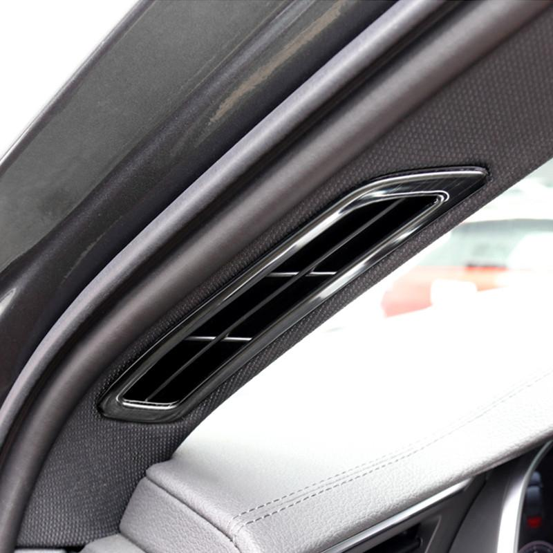 Car Styling A Pillar Air Vents Decorative Frame Cover Trim Stainless Steel For Audi A6 C8 2019 Interior Accessories