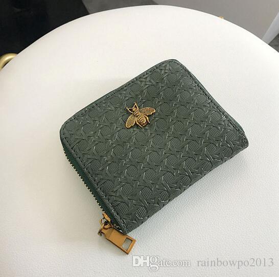 Toptan marka kadın tutan çanta klasik Lingge cüzdan vintage ışlemeli deri Çoklu Kart cüzdan moda Iki kat toka sikke çanta