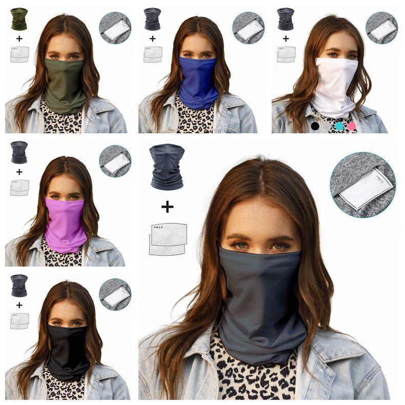 Con ciclismo bufanda protección bicicleta polvo cubierta de la boca 60 unids senderismo mágico filtro máscara al aire libre bandana headwear sol cara cca12099 campin ujgl