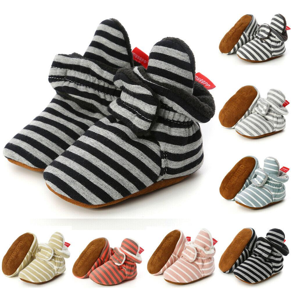 Nuove scarpe da bambino Stivali caldi di peluche invernali Bambino Neonata Scarpe da presepe con suola morbida Sneakers prewalker antiscivolo