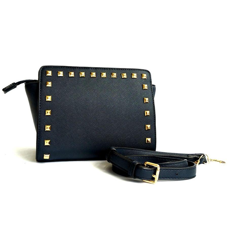 2020 Stile Handtasche Berühmter Designer Markenname Mode-Leder-Schulter-Beutel-Frauen Rivet Schultertasche Lady Leder Schultertasche Taschen 010 # 149