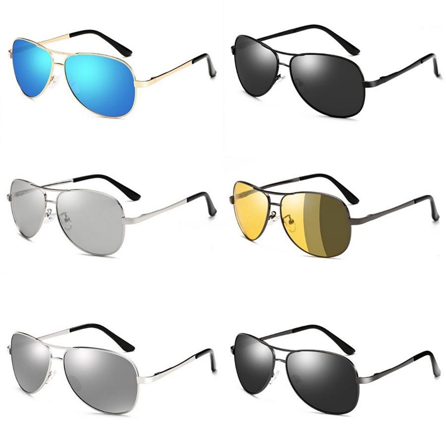 도매-2020 남녀의 HD 노란색 렌즈 구글 선글라스 나이트 비전 고글 자동차 운전 드라이버 안경 안경 UV 차단 # 71711