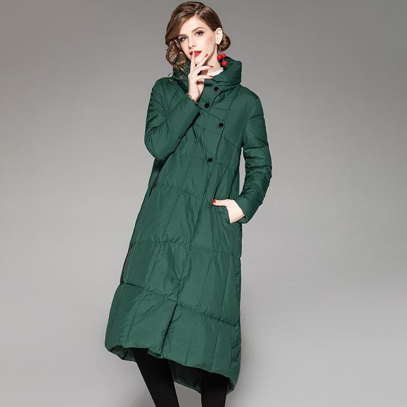 2019 Winter White Duck Down Jacket Women Single Breasted Outwear Female Down Parkas Coat
