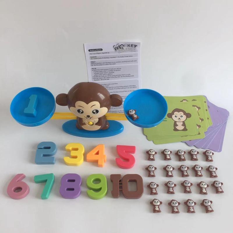 Enumeração do número de iluminação Subtração Equilíbrio de matemática Escalas Jogos de tabuleiro Figura animal Aprender Educação Bebê Brinquedos de matemática pré-escolar DBC VT0521