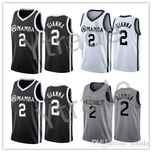 2020 NCAA Universidad de Connecticut Huskies tributo especial Colegio Gianna Maria Onore 2 Gigi Mamba Secundaria Memorial 8 24 33 jerseys del baloncesto Bryant