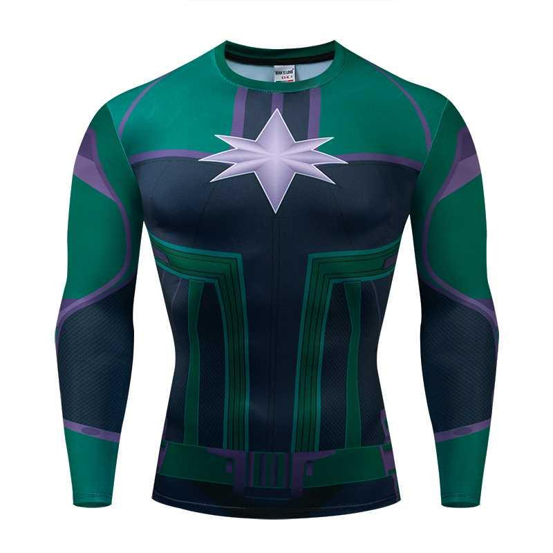 """""""Compression Shirt Fitness Clothes T-shirt New 3d Men And Women Fit Material Superhero Long-sleeved"""""""