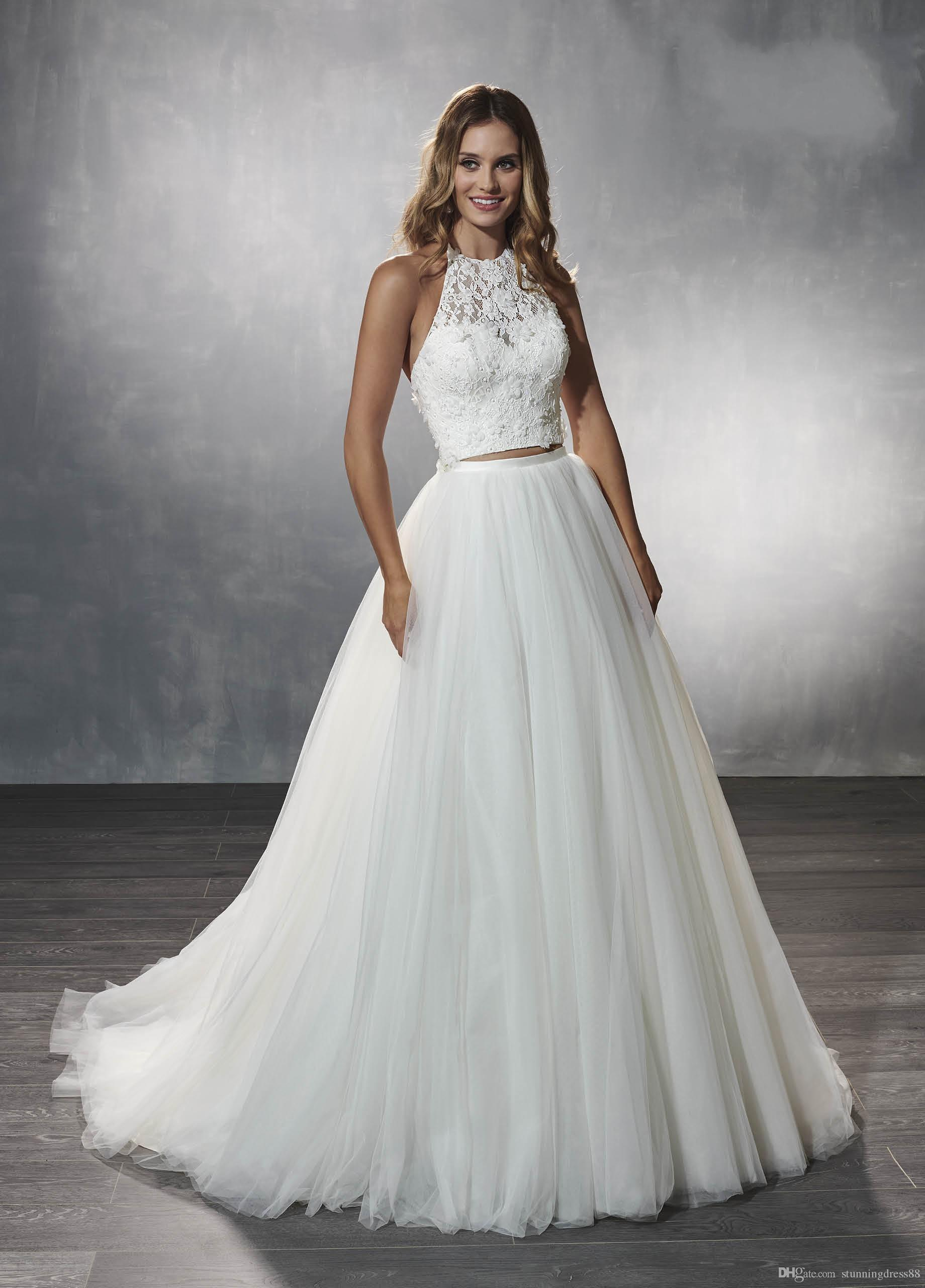 Discount 2020 Pretty Two Pieces Wedding Dresses