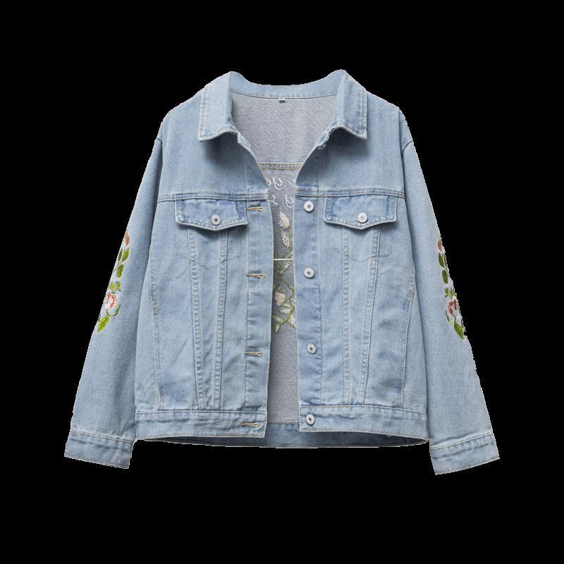 Женская 2019 Мода весна осень Джинсовая куртка плюс размер дамы пальто вскользь Жилет женской одежды Корейский Буквенные верхней одежды