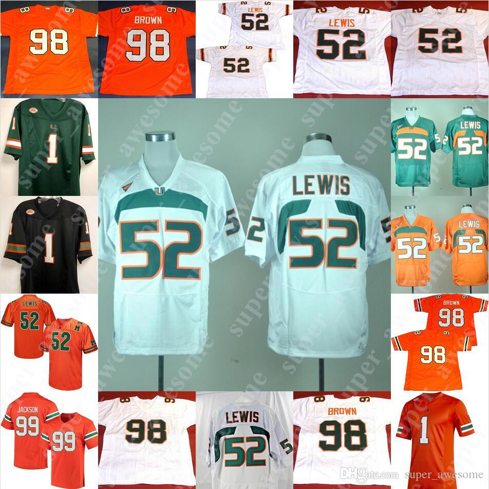Miami Hurricanes Fußball Jersey Ray Lewis 20 Reed Jim Kelly Sean Taylor Michael Irvin Jerome Brown Jimmy Graham Warren Sapp Andre Johnson