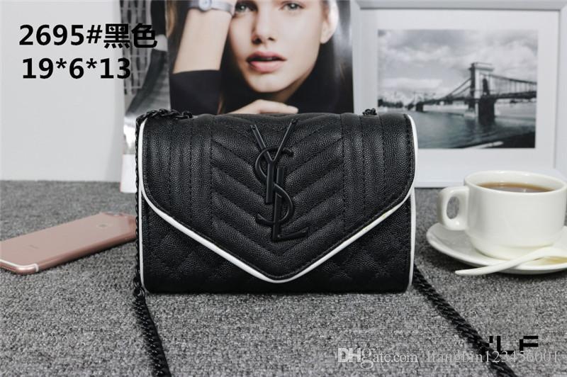 louissYSLhandbag designer borsa catena in pelle Borsa a tracolla trasversale del corpo delle donne pure di colore della borsa della borsa crossbody