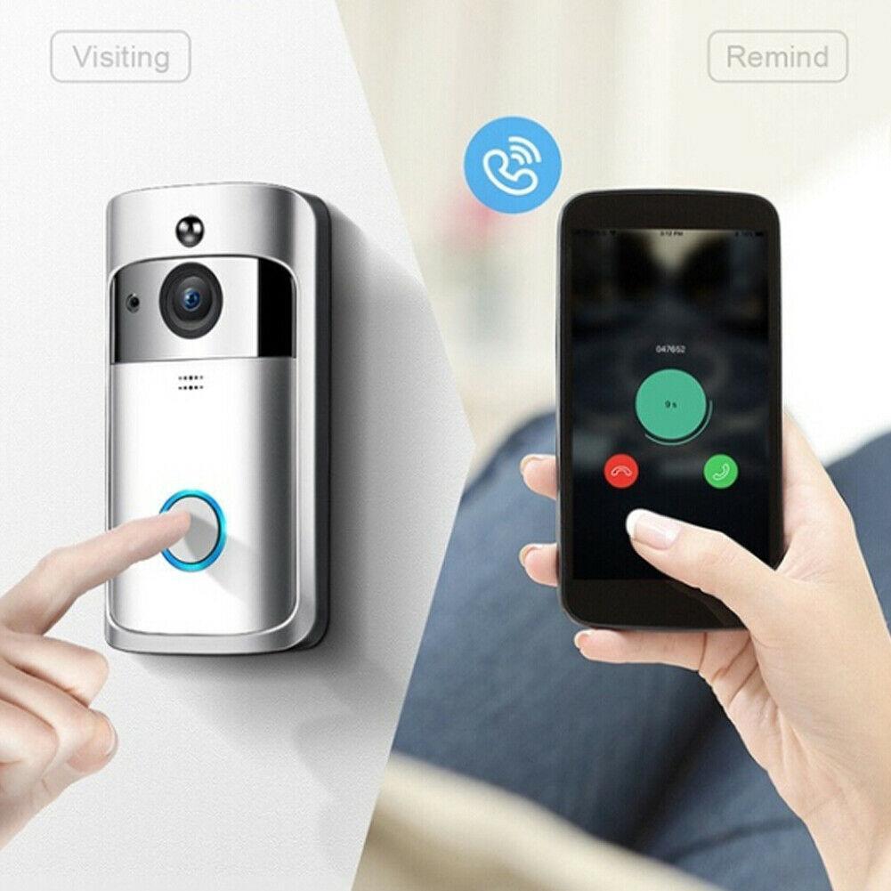 2019 جديد لاسلكي wifi الذكية التطبيق الجرس الأشعة تحت الحمراء الصدرية hd كاميرا الجرس الذكية ماء نظام الأمن الجديد إنترفون الهاتف الجرس