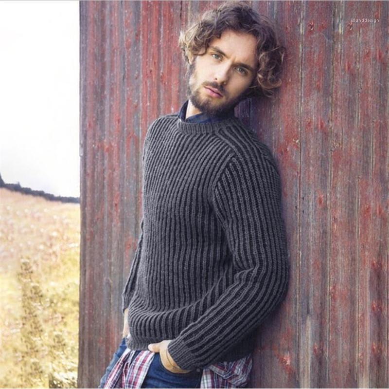 Esempio allentato a maniche lunghe girocollo Pullover Maglioni Moda Uomo Top Solid Color Designer Maglione Uomo Casual