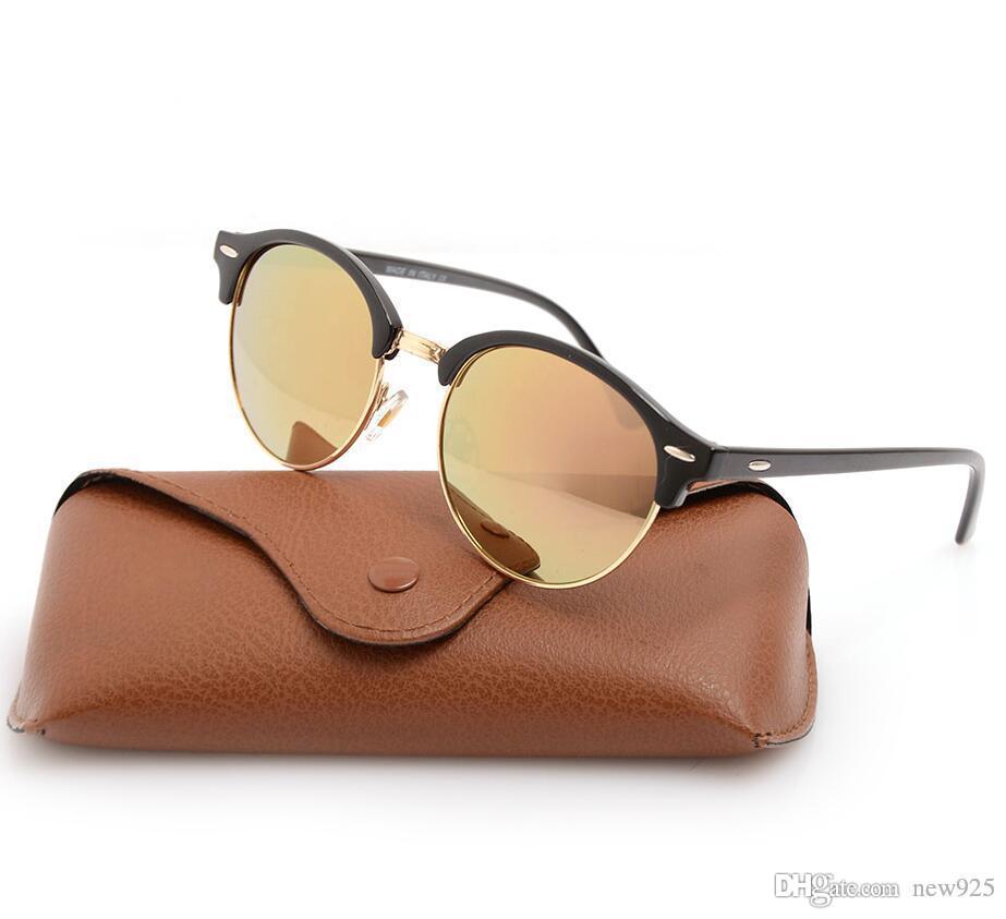 UV400 NOUVELLES SUNGLASTES DE PROTECTION VERRES UNISEXES Cas pour hommes Ray Womans Classic Sunglasses Lunettes 4246 Lunettes de soleil Marque avec Brown Box GL Qlsa