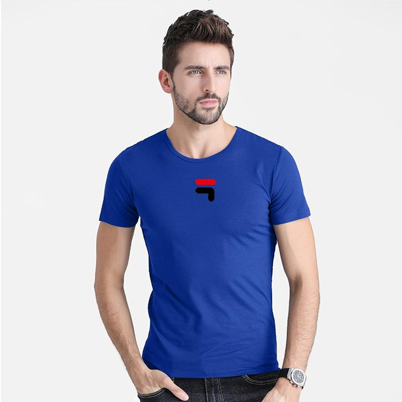 Summer 2020 best-selling cotton printed fashion T-shirt men's casual short-sleeved O-neck T-shirt black/grey/blue/white plus siz