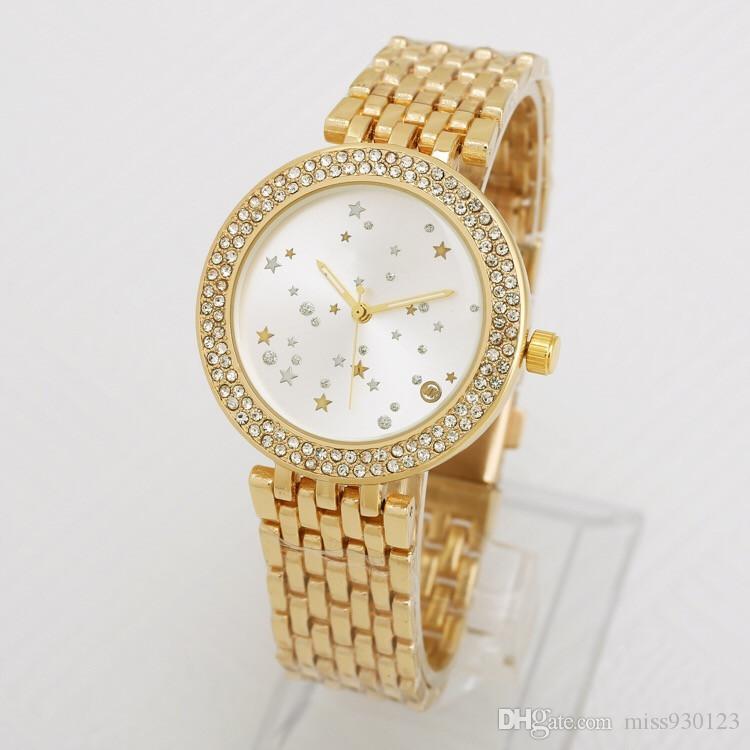 ¡Edición limitada real! Reloj de pulsera de acero inoxidable para mujer Reloj de diamantes de lujo para mujer Reloj de cuarzo y diamantes Reloj de moda