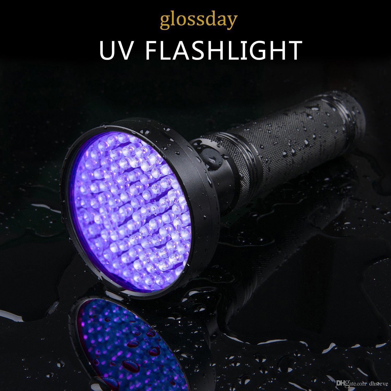 Multifunctional 100 LED/'s UV BlackLight Torch Light Money Scorpion Detector