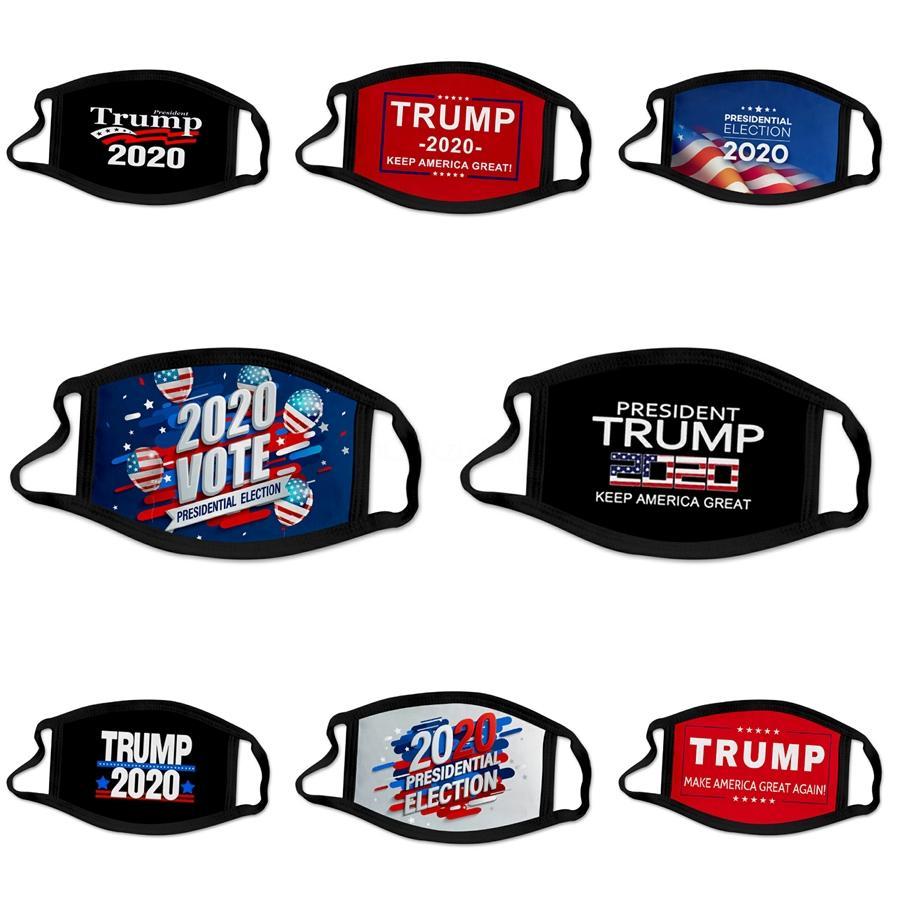 Мода 2020 Маски для лица Trump моющегося Дизайнера Trump Face Mask Американских Президентские выборы Хлопок Маской 9 Стилей Ткани многоразового Face M # 11