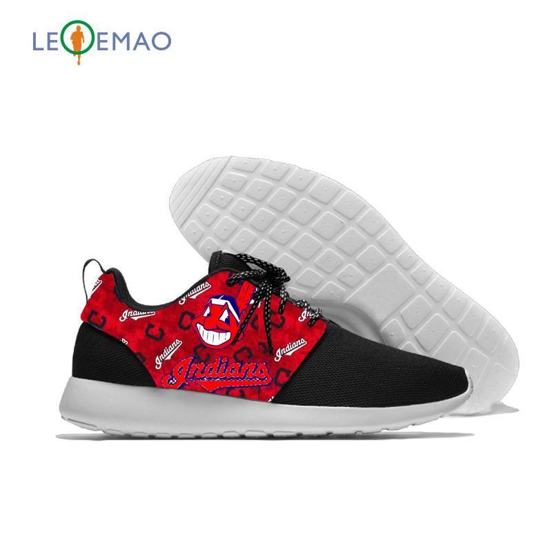 2020 Hot índios impressão Moda Unissex Sneakers Lightweight Cleveland Baseball Team Fãs Casual Shoes