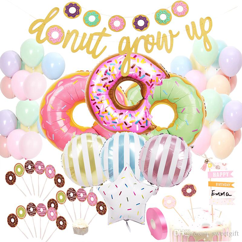 Donut Balloons Baby Shower Decorations Kit Birthday Party Decoration Birthday Party Decorations Kids Happy Birthday Cake Topper Horse Party Supplies