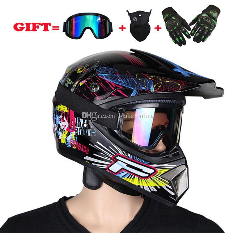 Off-Road Motorrad Helm Motor Motocross Casque Offroad Offroad atv Cross Radrading Goggles Mask Handschuhe Geschenke
