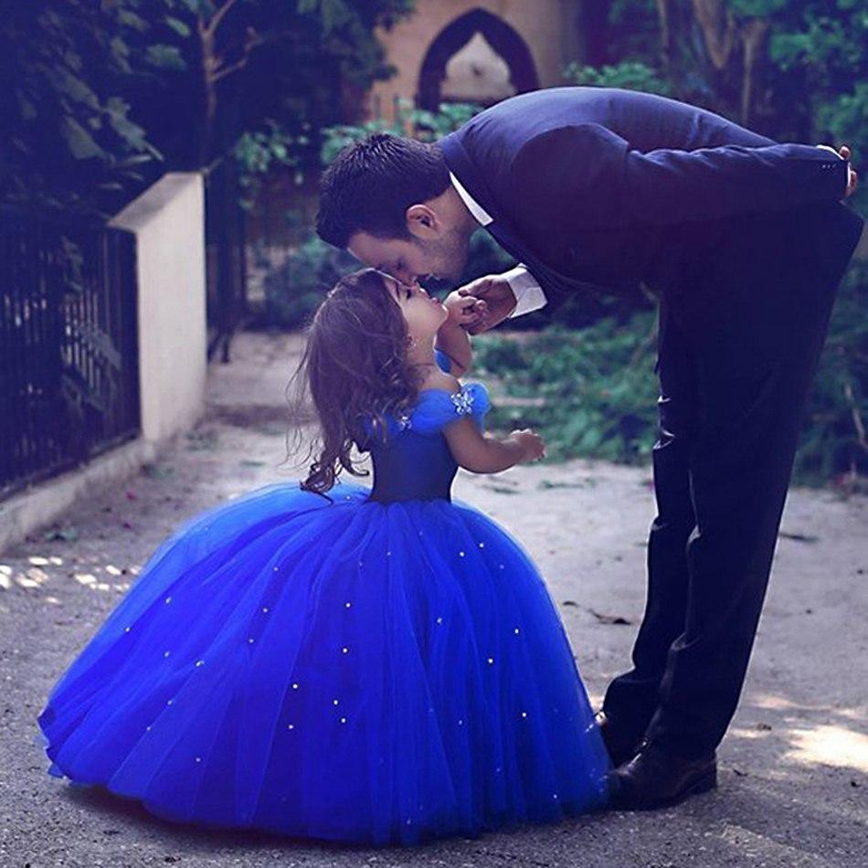 Prenses Sindirella Giydirme Elbise Kız Kapalı Omuz Yarışması Balo Çocuklar Deluxe Kabarık Boncuk Cadılar Bayramı Partisi Kostüm ZY190928