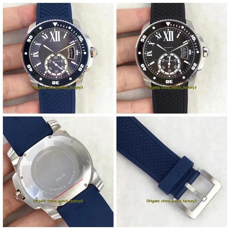 2 stile di vendita caldo migliore qualità TF Maker 42 millimetri di calibro DE W7100056 Asia Cal.1904 ETA 2824 movimento meccanico automatico Mens Watch Watches
