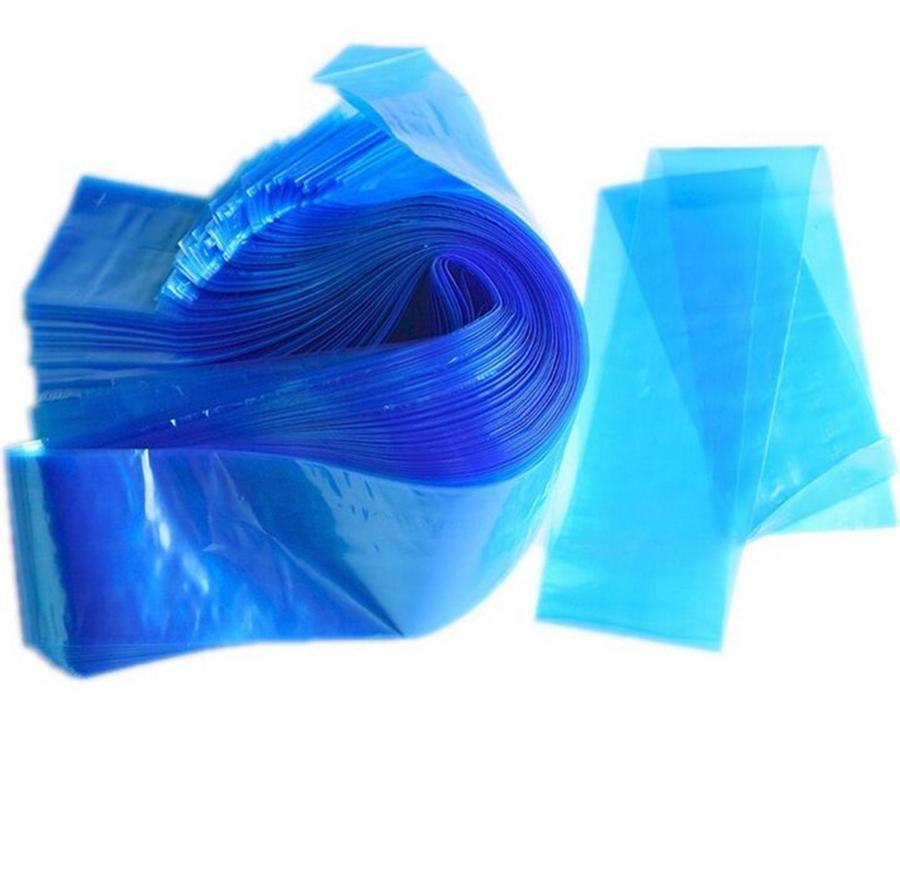 Pro Disponible Plástico Azul Tatuaje Clip Mangos Para Cuerda De Cubierta Bolsa De Tatuaje Profesional Accesorio Para Tatuajes Máquina Suministro 100pcs / Lot RRA1378