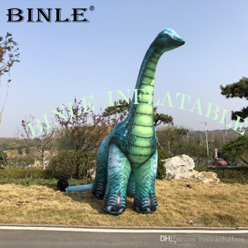 العنق طويل عملاق نفخ براكيوصور ديناصور منطاد الهواء البارد للديكور العرض