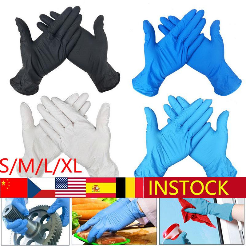100 PCS Disposable Gloves Latex Dishwashing/Kitchen/Work/Rubber/Garden Gloves Universal For Left and Right Hand 3 Color
