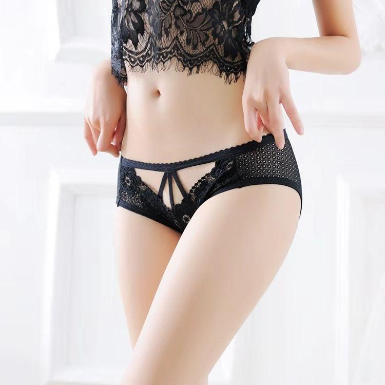 Lace Panties Women's Japanese-Style Transparent Hot Sexy Charming Nightclub Girl's Briefs Temptation Seamless Ultra-Thin Sexy
