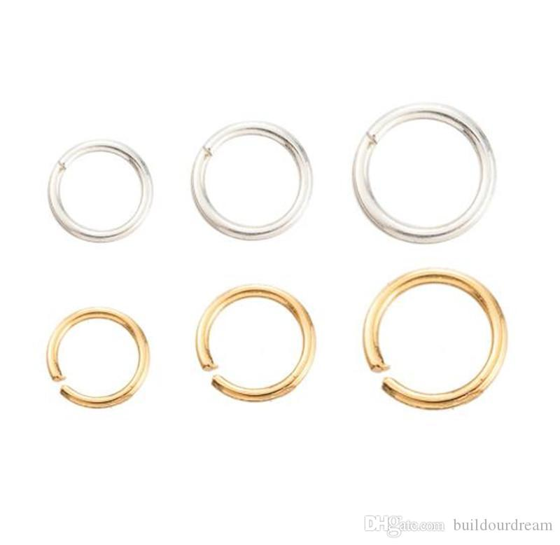 envío de la alta calidad de pendientes anillo anillo único accesorios hechos a mano bricolaje materiales conexión de anillo abierto pulsera accesorios collar
